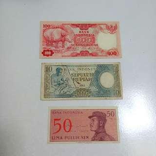 Uang NKRI lawas +bonus koin Kuwait