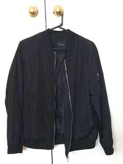 NEW LOOK black bomber jacket SIZE 16