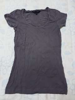 French Connection Basic Top in Purple Grey
