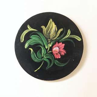 Hand Painted Wooden Coaster