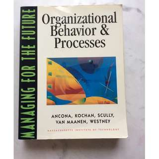 Organisational Behavior and Processes