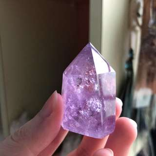 Purple Amethyst Crystal Point #B