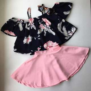 Off Shoulder Top with Skirt