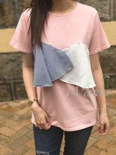 珍珠Tee (藍/粉紅/白)