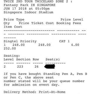 [Original Price] Sell/Trade Twice twiceland zone 2 fantasy park ticket