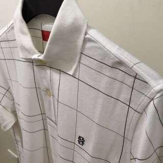 IZOD White Checkered Polo Shirt