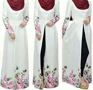 Instock muslimah Jubah Abaya blouse long sleeve tops