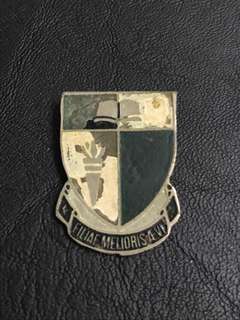 Raffles Girls' School RGS Filiae Melioris Aevi Vintage Collar Pin Badge