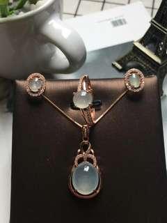 翡翠首飾套裝 925純銀 630元 3款選