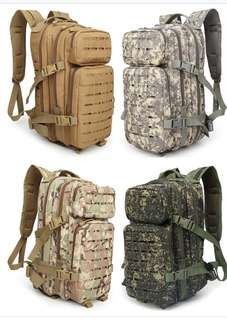 New Designed 600D 30L Outdoor Hiking Camping Bag Military Tactical Backpack