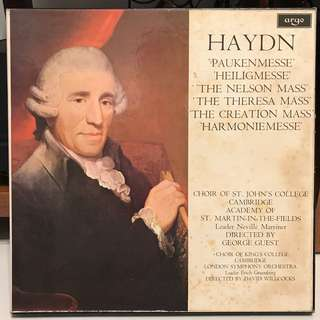 Haydn Sacred Mass Music DECCA ARGO SDDG 341-6 6-LP box set