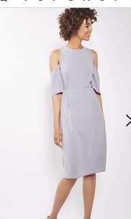 *^* TOPSHOP Pale Grey/ Blue Dress *^*