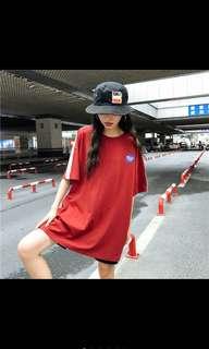 全新免運!oversized 原素風上衣T shirt