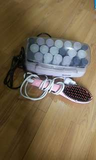 Hair Curler and Straightener Set