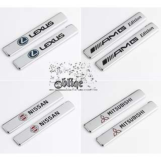 Car Accessories 3M Metal Stickers Multiple Models Stick-On.