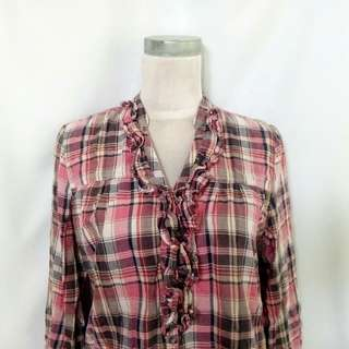 """""""Cache Cache"""" Pink Flannel Top"""