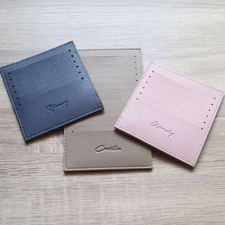 CUSTOM LEATHER CARDHOLDER SAFFIANO LEATHER