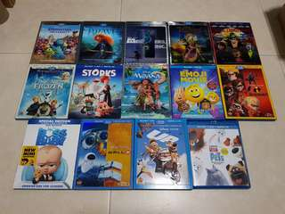 Animated Movies from Disney, Pixar, Dreamworks, Universal and Sony Bluray