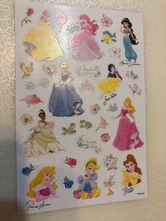 迪士尼公主貼紙