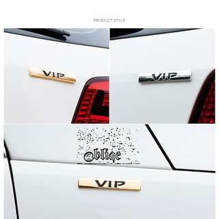 Car Accessories 3M Metal Stickers VIP Stick-On.