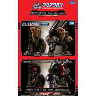 PRE-ORDER : TakaraTomy Diaclone DA-00 - Powered System Set A & C Type / Desert Combat Squad Ver. (Asia Exclusive)