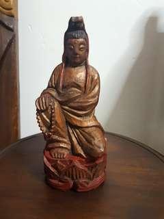 木雕观世音 菩萨