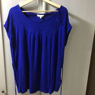 Blue Red Herring Maternity Top, Size 18