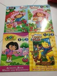 BN preschool  writing books (numbers)