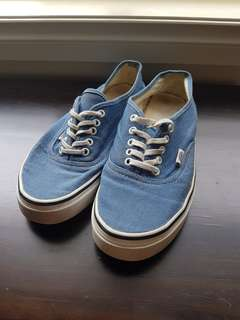 Vans Canvas Skate Shoes - Light Blue