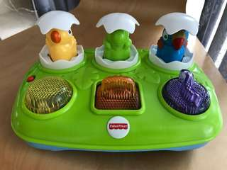 Fisher Price Toy - Infant musical pop-up eggs