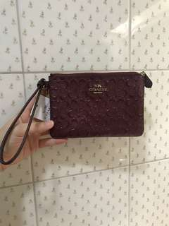 Coach Small Wristlet (Maroon)