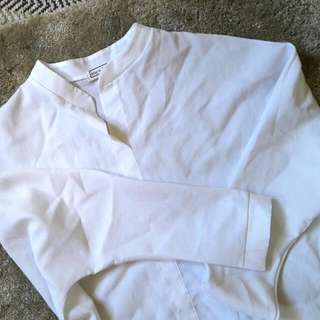 White Buttonless Polo