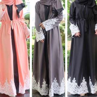 Lace Abaya (with Shawl)