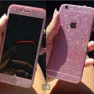 Sticker glitter skin for all types of iphone.