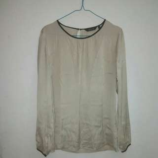 Blouse satin creme
