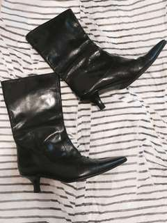女神鞋Episode leather boots made in Italy