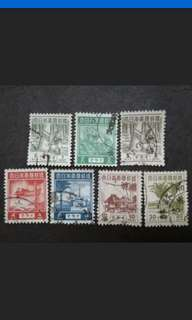 Malaya 1944 Japanese Occupation Loose Set Up To 30c -7v Used Malaya Stamps