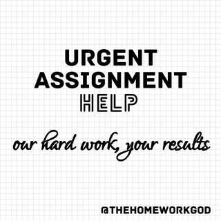 Urgent Assignment Help! 🎓