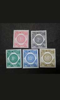 Malaysia 1966 Postage Due Loose Set Up To 50c - 5v MH Stamps