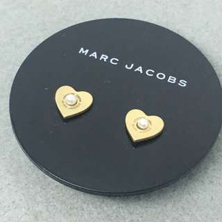 Marc Jacobs Sample Earrings 金色心心配珍珠耳環