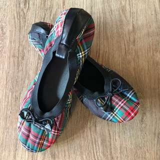 Checked Doll Shoes