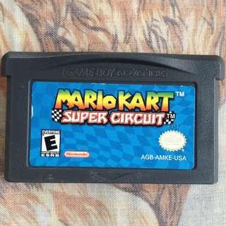 Mario Kart super circuit. GBA games