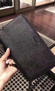 Original coach men money clutch clip wallet purse