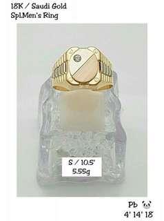 18k Saudi Gold-Spl Men's Ring