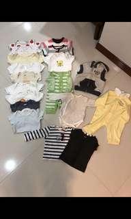 [Preloved] (0-6M) Baby Clothings In Bundle