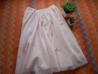 CICI Tulle Midi Skirt (Peach)