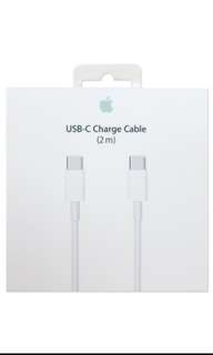$16 Original Apple USB-C Charge Cable Usb-C to C 2m Usb Type C to C Macbook Air Pro Free Delivery