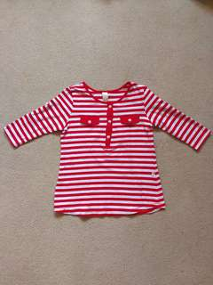 Spoiled Red & White Stripes Top