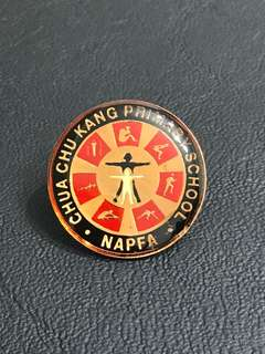 Chua Chu Kang Primary School NAPFA Bronze Collar Pin Badge