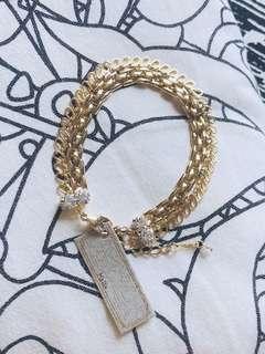 全新正品 KaZa 復古金色手鏈